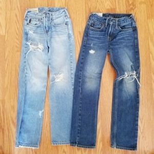 Lot Of two Abercrombie & Fitch Boys Jeans Size 8
